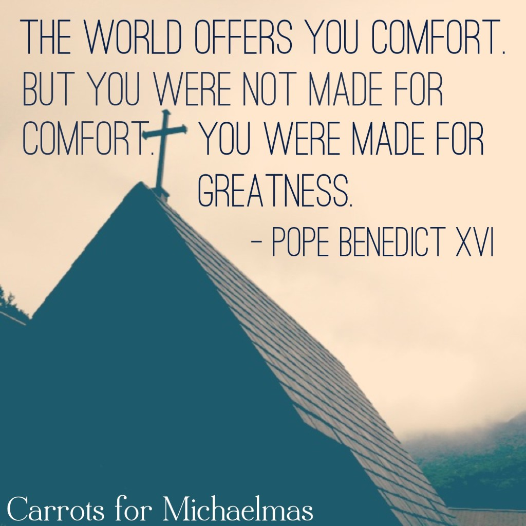 You Were Not Made for Comfort…