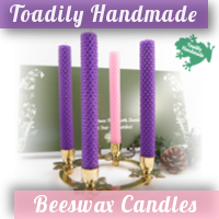 Want 100% Beeswax Advent Candles? GIVEAWAY with Toadily Handmade Beeswax Candles