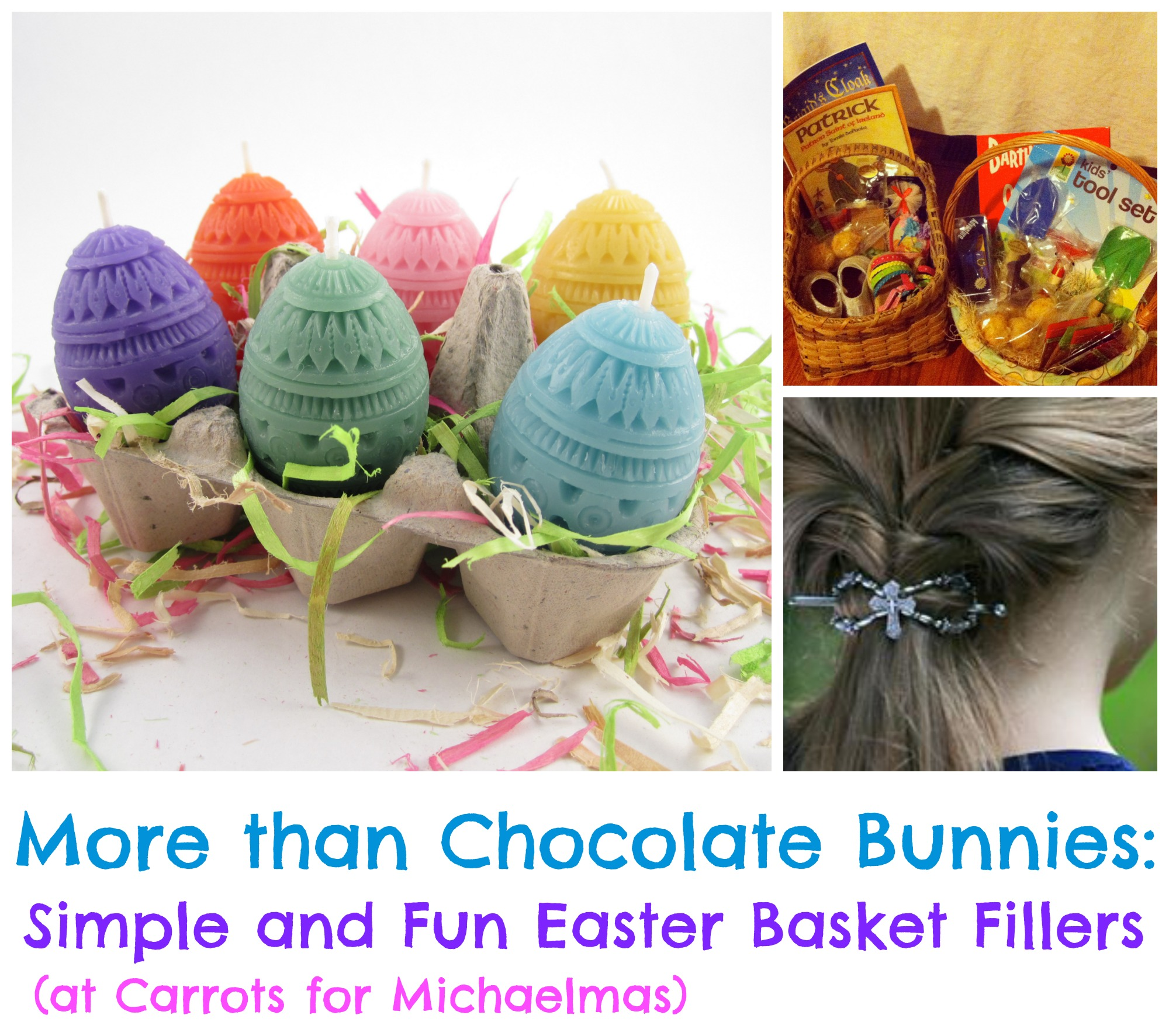 More than chocolate bunnies simple and fun kids easter basket simple and fun easter basket filler ideas negle Gallery