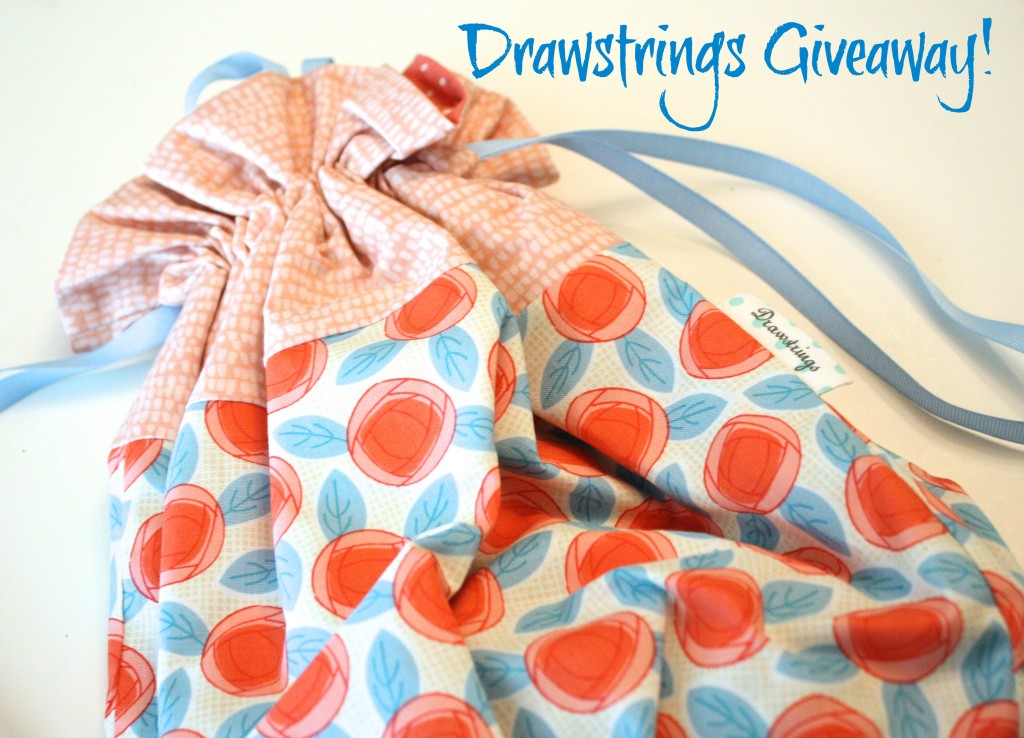 Do You Have Things? Do You Need a Bag for Those Things? (A Giveaway from Drawstrings!)