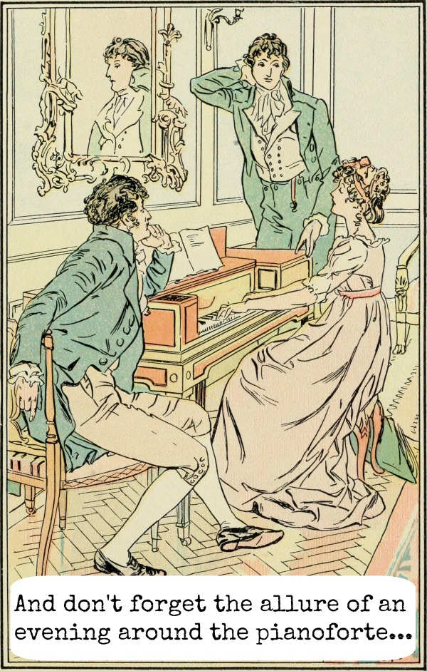 Don't forget the allure of an evening around the pianoforte....Why We Still Love Jane Austen // Carrots for Michaelmas