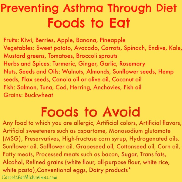 Food Diets For Asthmatics