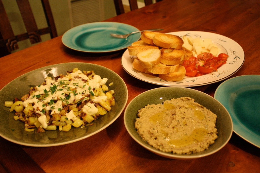 Spanish Tapas, Eggplant Spread, and Potatoes Aioli // Carrots for Michaelmas