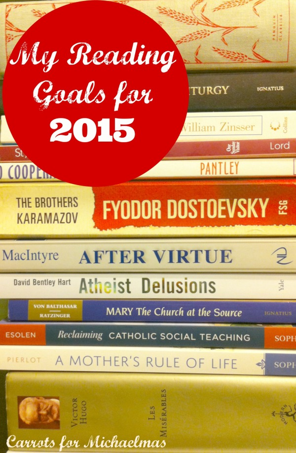 My Reading Goals for 2015