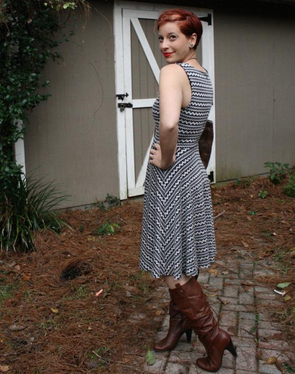Pixley Lex Mini Chevron Knit Fit & Flare Dress Stitch Fix