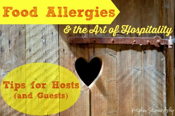 Food allergies and hospitality