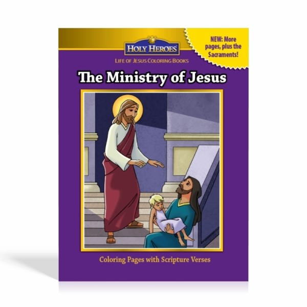 Ministry of Jesus Coloring Books