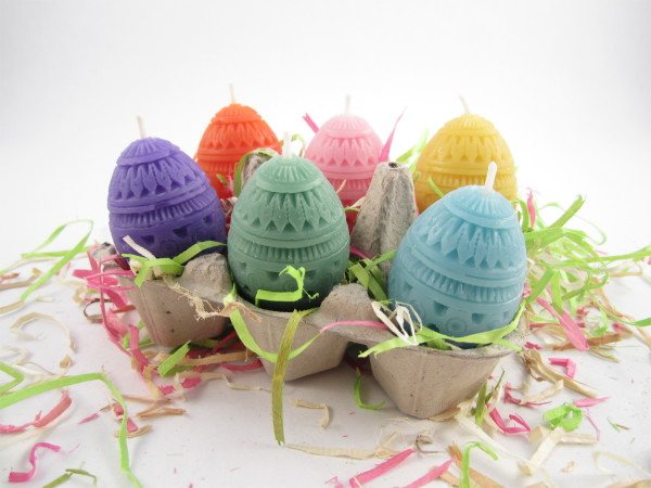 Easter Egg Votives from Toadily Handmade Beeswax Candles