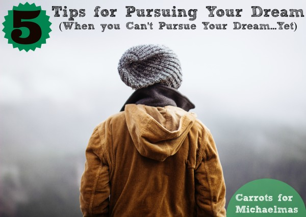 5 Tips for Pursuing Your Dream (When You Can't Pursue Your Dream...Yet)