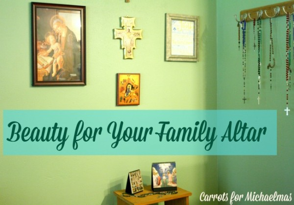 Beauty for Your Family Altar // Carrots for Michaelmas