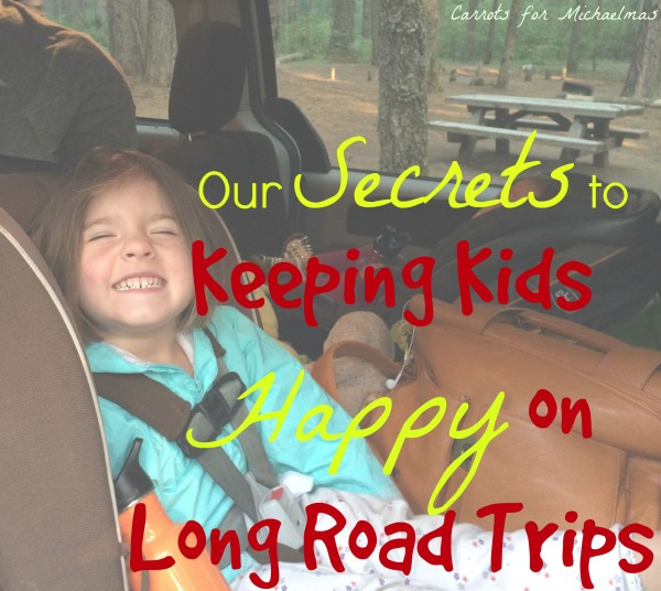Our Secret Weapons to Keeping Young Kids Happy on Long Car Trips