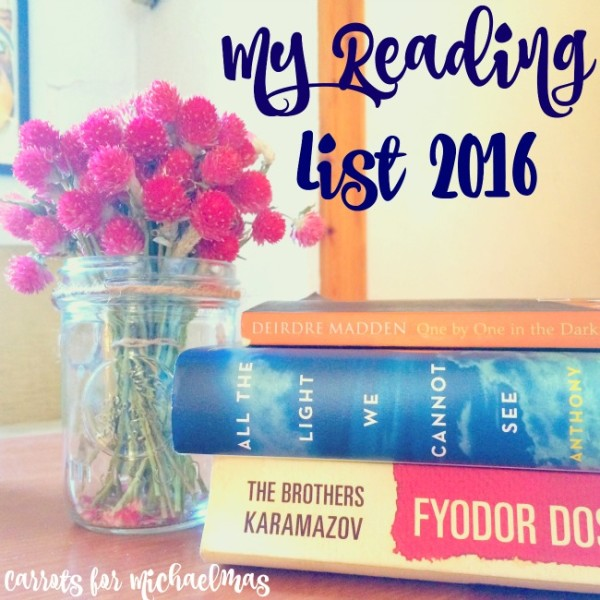 My Reading List for 2016