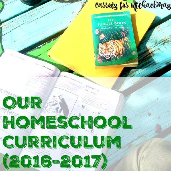 Our Homeschooling Curriculum with a 2nd Grader, a Preschooler, and a Toddler (2016-2017)