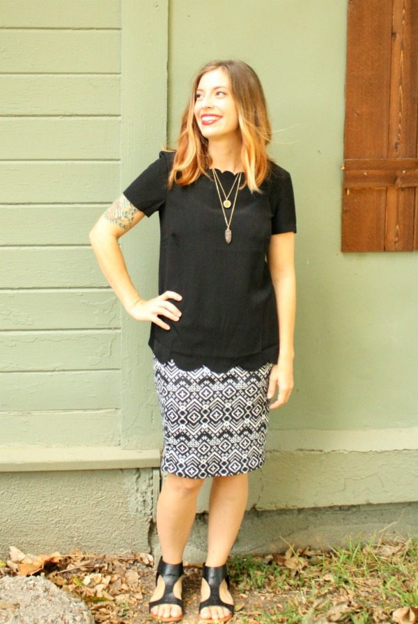 The Chambers Top from Elizabeth & Clarke and Cassie Skirt from LulaRoe