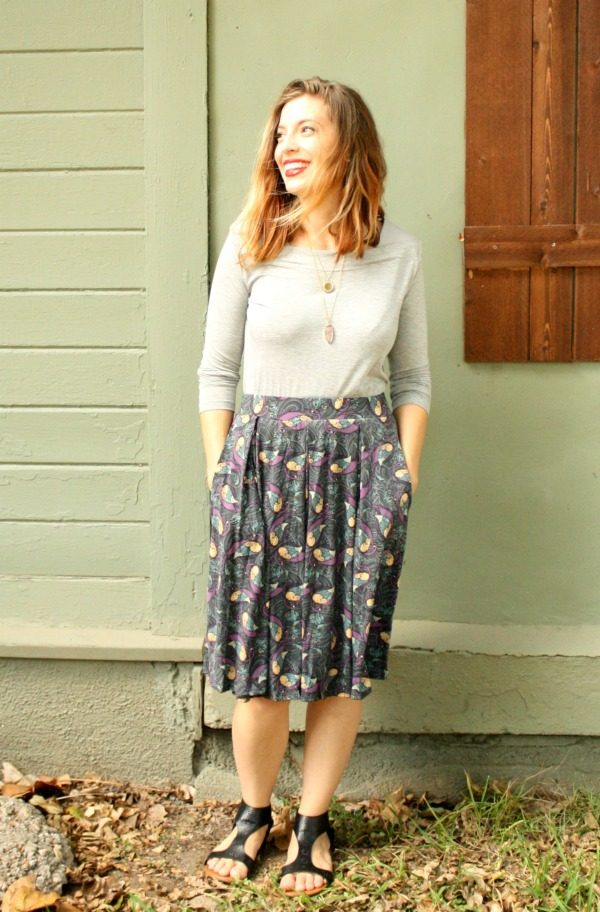 The McCord Top from Elizabeth & Clarke and the Madison skirt from LulaRoe