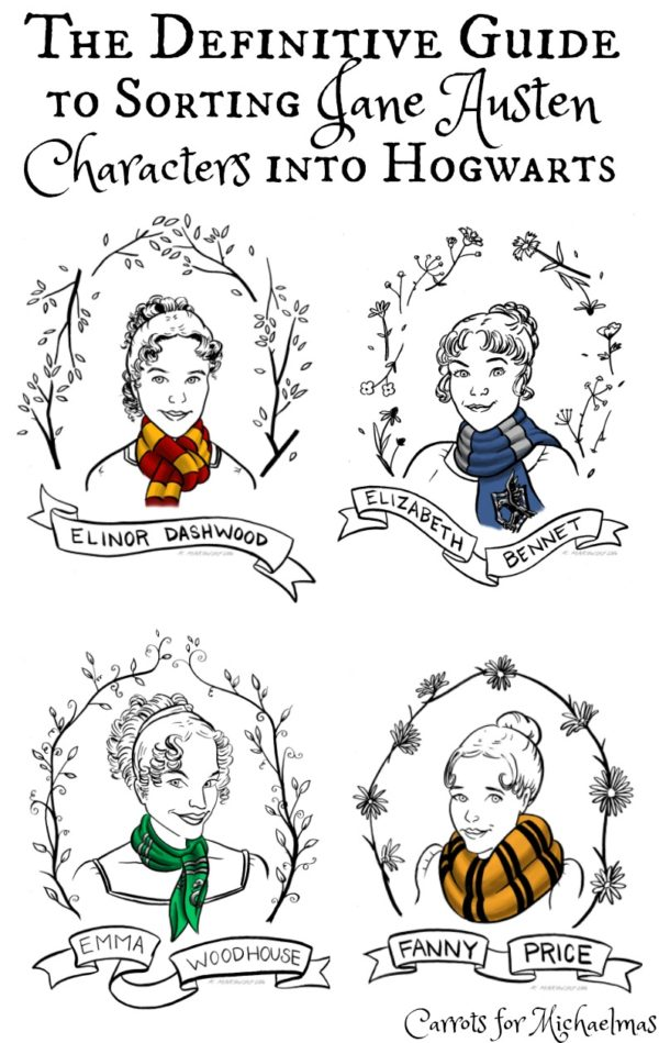 Sorting Jane Austen Characters Into Hogwarts Houses: The Definitive Guide