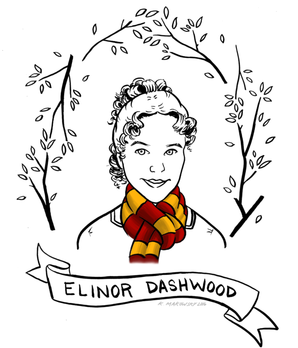 The Definitive Guide to Sorting Jane Austen Characters into Hogwarts Houses: Elinor Dashwood, Gryffindor