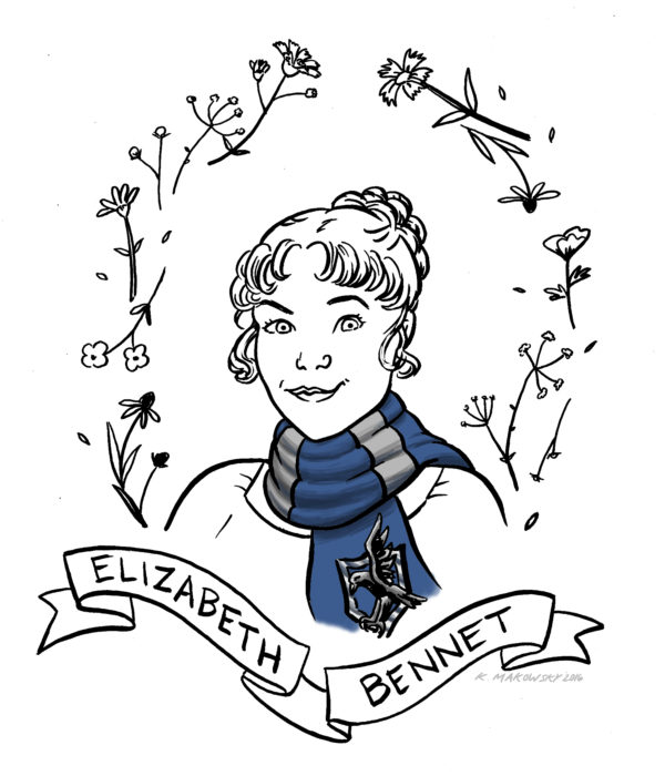 The Definitive Guide to Sorting Jane Austen Characters into Hogwarts Houses: Elizabeth Bennet, Ravenclaw