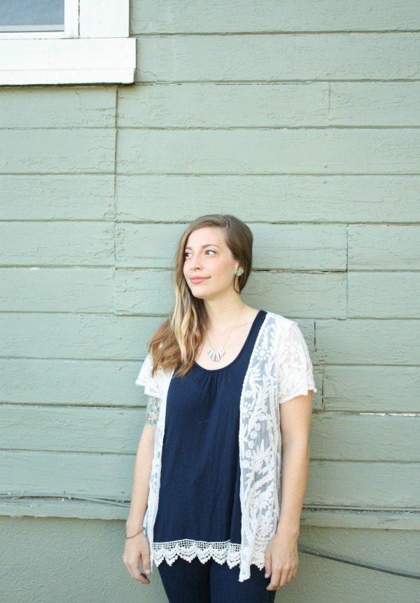 Ashton Crochet Lace Kimono by Pixley