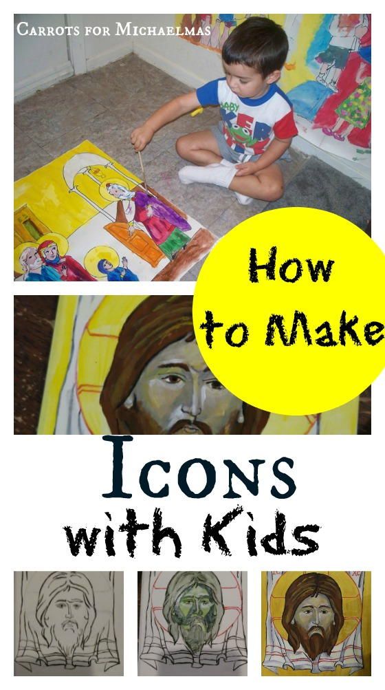 How to Make Icons with Kids//Carrots for Michaelmas