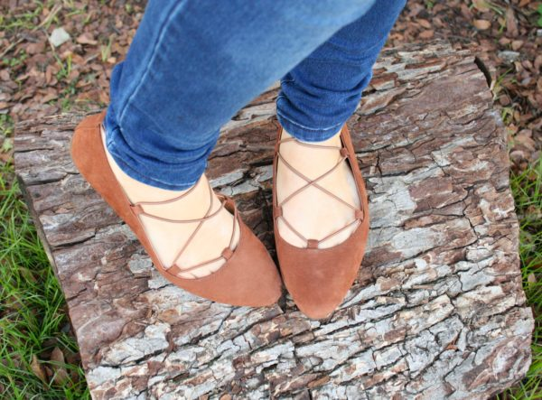 Aviee Lace Up Flat by Lucky Brand