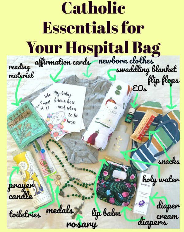 Hospital Bag Checklist for the Catholic Mom
