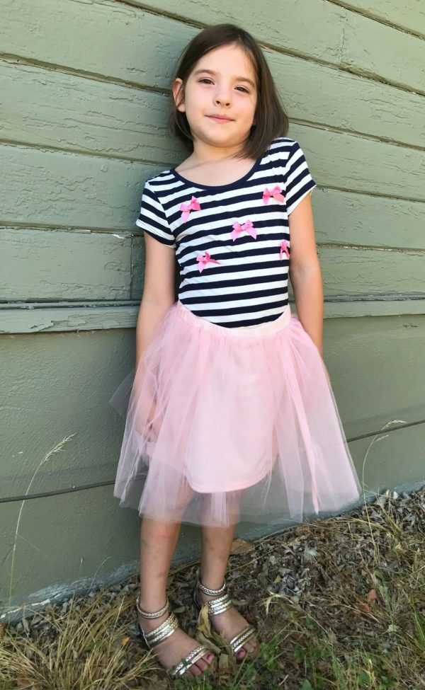 Zoey Bow Stripe Swing Tee by Chenault Girl, Sara Tutu Skirt by Nine One Eight for Stitch Fix Kids