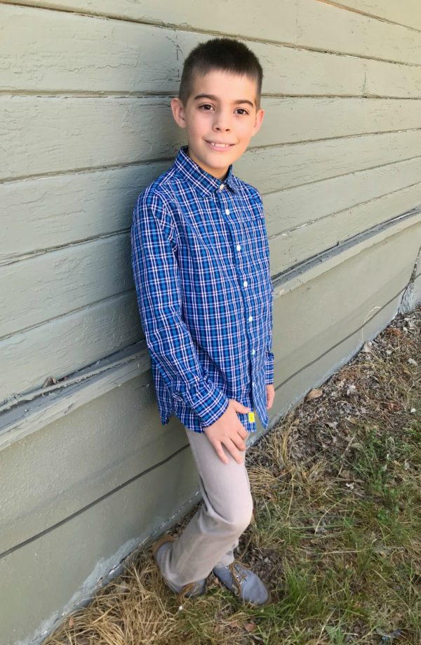 Brady Slim Leg Knit Pant by DL1961, Rumi + Ryder dress shirt for Stitch Fix Kids