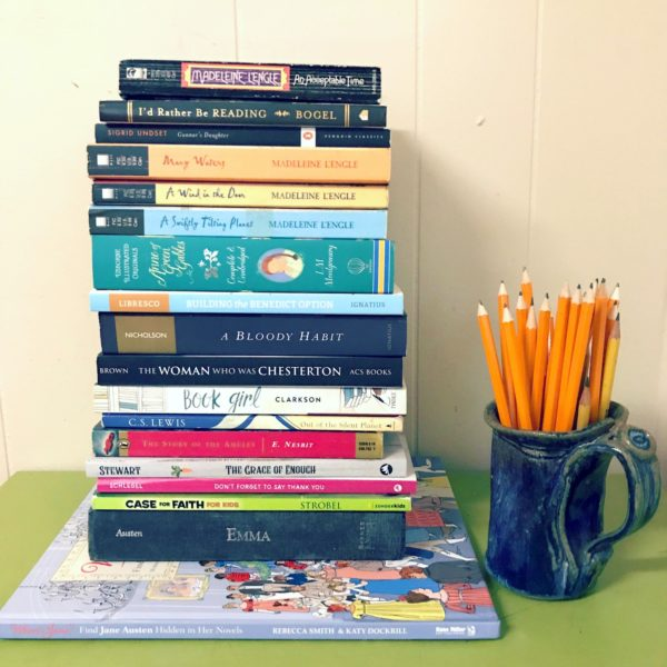 My August Reading Stack (and a giveaway of my new book!)